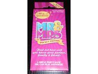 'Mr & Mrs Pocket Edition' Card Game (new)