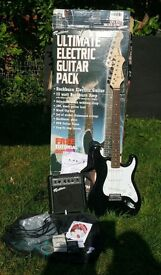 Rockburn Electric Guitar with Extras