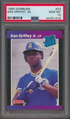 1989 Donruss #33 Ken Griffey Jr RC Rookie Gem Mint PSA 10