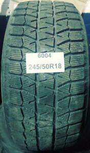PNEUS HIVER USAGÉS / USED WINTER TIRES  245/40R18 24540R18 BRIDGESTONE BLIZZAK WS80 (8 DE DISPONIBLES)
