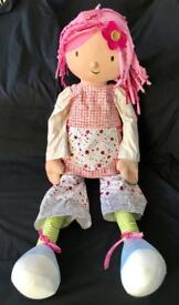 Extra Large Emily Button Rag Doll - 120 cams