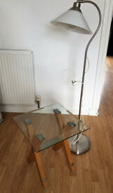 Glass table & floor lamp