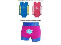 Baby swim vests and happy nappy