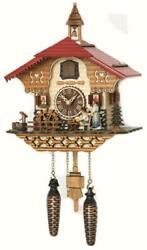 cuckoo clock black forest quartz german music  beer drinker battery wood