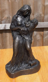 John Letts Sculpture - Mother & Child - Bronze, cold cast HEAVY and beautiful