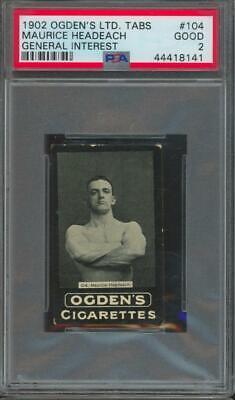 1902 Ogden's Tabs General Interest #104 Maurice Headeach Good PSA 2
