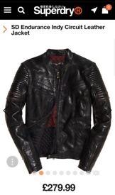 Men's Superdry Leather Jacket