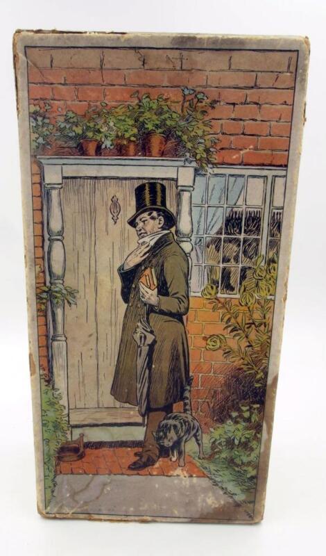 ANTIQUE 1900 KATE GREENAWAY ILLUSTRATED SHOE BOX EMPTY DANIEL GREEN FELT SHOE CO