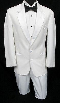 Men's White Tuxedo Jacket with Pants Prom Wedding Cruise Mason Halloween Costume