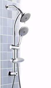 Dual Head Handshower on Rail with 5 settings
