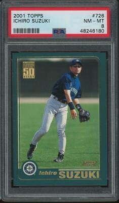 2001 Topps #726 Ichiro Suzuki Rookie RC PSA 8