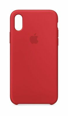 Genuine Apple Silicone Case for Apple iPhone X (PRODUCT) Red MQT52ZM/A - In Box