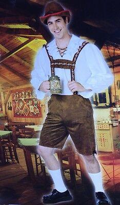 Clark Halloween Costume (Mens Lederhosen Halloween Costume Clark Griswold Outfit Oktoberfest L XL)