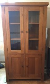 Corndell solid oak book case in excellent condition.