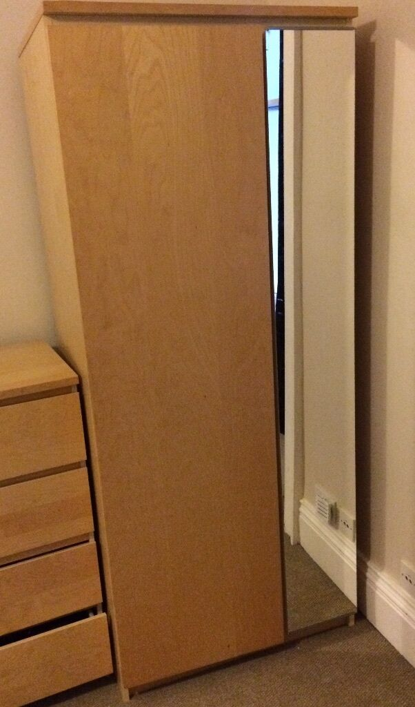 Ikea beech effect wardrobe with mirror in bath somerset gumtree - Ikea armoire with mirror ...