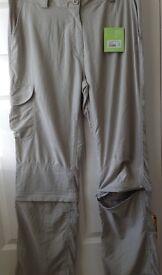 Women CRAGHOPPERRAGHOPPER CONVERTABLE combat style trousers size 16 + 20