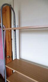 metal tube frame + 4 adjustable shelves