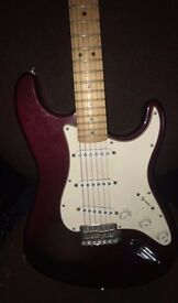 Fender Mexican Strat - Wine Red