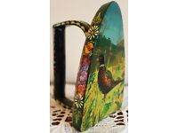 Hand Painted Flat Iron depicting Pheasant