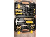 40 piece general tool kit in plastic storage box