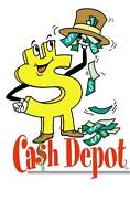 Don't wait till payday, get a Cash Depot Cash Advance Today!