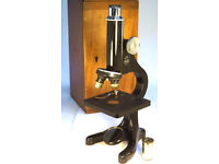 Vintage Beck of London Microscope in Original Wooden Case VGC (WH_0475)