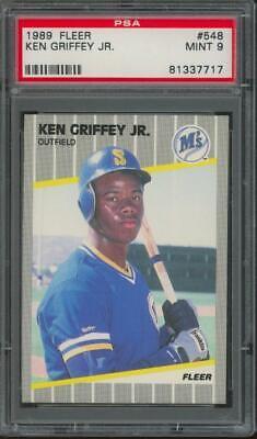 1989 Fleer #548 Ken Griffey Jr RC Rookie Mint PSA 9