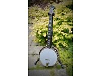 Vega type bluegrass banjo with pure carbon (graphite) neck