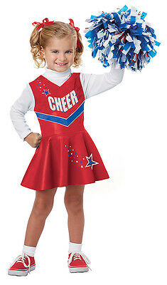 Red Cheerleader Costume (USA Patriotic Classic Cheerleader Toddler Costume -)