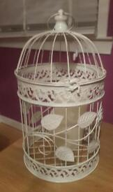 Shabby chic french style bird cage with candle
