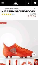 Adidas football firm ground size UK 5 (junior)