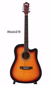Free delivery Acoustic Electric Guitar for beginners Sunburst 41 inch iMusic218