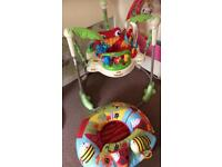 Fisher Price rainforest jumperoo and Red Kite doughnut ring seat/chair