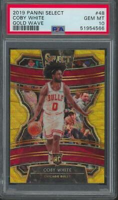 2019 Panini Select Gold Wave #48 Coby White RC Rookie Gem Mint PSA 10