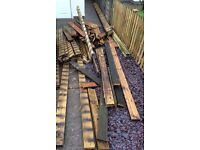 Decking boards and 5x2 timber
