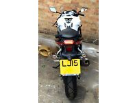 2015 Hyosung GT 125 RC GT125RC GT125R White Low Mileage VGC £2400 OVNO