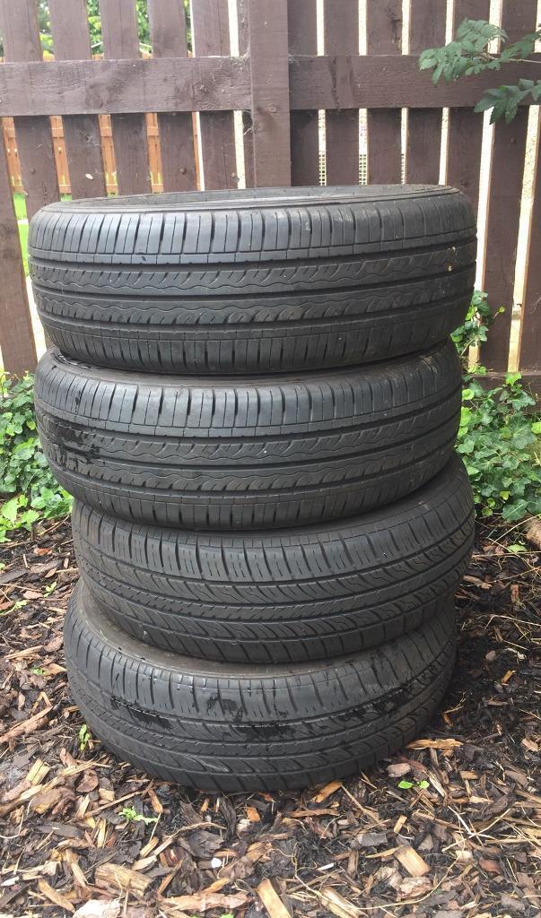 4x 165/60r14 car tyres