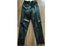 "Ladies Black Leather (Jean Styled) Trousers 26""/27"" W x 31"" L"