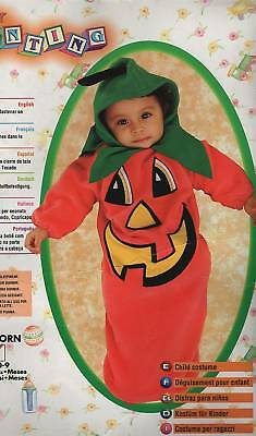 PUMPKIN BUNTING COSTUME 0-9 Months Baby Infant Halloween Newborn Cute Fleece - Cute Newborn Baby Kostüm
