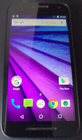 "5"" Motorola Moto G 3rd Gen. 8GB 4G/LTE 13 Mega Pix. Black (Unlocked) Smartphone (no offers!)"