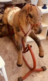 Gorgeous Vintage Rocking Horse, needs some TLC re mane and tail, all very solid