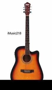 Acoustic Electric Guitar for beginners Sunburst 41 inch iMusic218