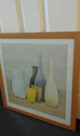 Framed ceramic picture print