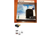 LOOK!!! BELKIN N150 ADSL ROUTER AND EDIMAX N SERIES WIFI DONGLE NEW BOXED