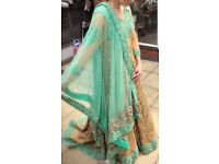Asian Bridal dress. Size 12. Gold and mint. Brand new. Never worn. Tag attached