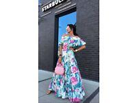 New summer flower maxi dress