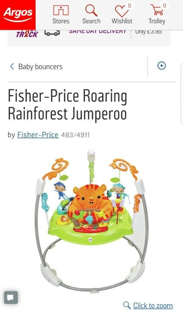 Fisher-Price Roaring Rainforest Jumperoo | in Wimbledon, London ...