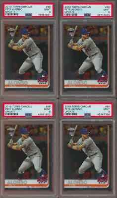 2019 Topps Chrome Update #86 Pete Alonso RC Rookie Mint PSA 9 Lot Of 4