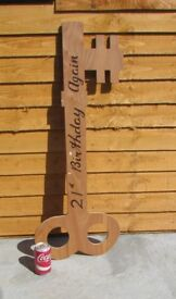 Large wooden key display props 21st birthday display 94cms large