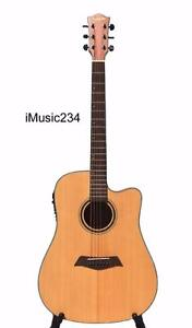Solid Top Acoustic Guitars selection ; Top Solid Spruce, Cedar, Mahogany